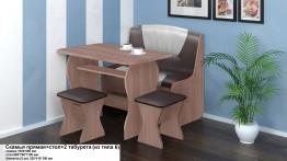 Скамья прямая+стол+2 табурета (из типа 6)